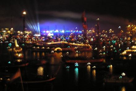 energie van amsterdam bij nacht