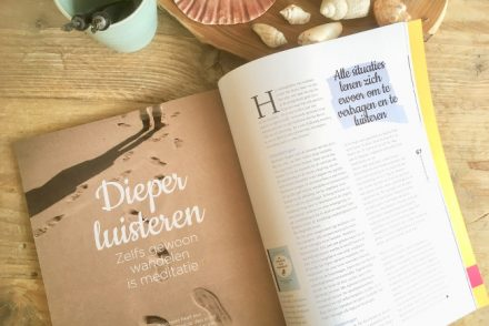 Artikel over Dieper luisteren in Yoga International