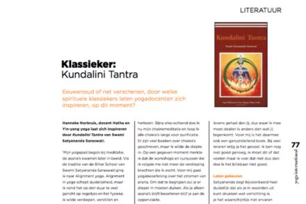 Uitsnede artikel Kundalini Tantra